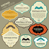 Vintage label set Royalty Free Stock Images