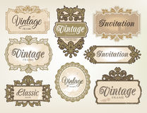 Vintage label set Stock Photos