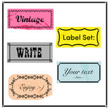 Vintage label set Royalty Free Stock Image
