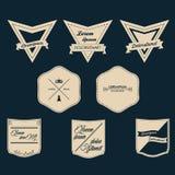 Vintage Label Set stock illustration