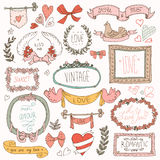 Vintage label set, Hand-drawn doodles and design elements, Stock Photos