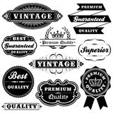 Vintage Label Set Royalty Free Stock Photography