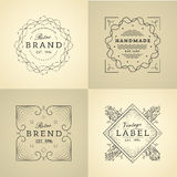 Vintage label set. Royalty Free Stock Photography