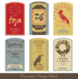Vintage label set Royalty Free Stock Photo