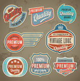 Vintage label set. Vector retro design banner backgrounds Royalty Free Stock Photography