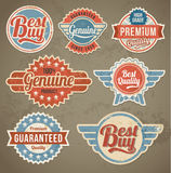 Vintage label set. Vector retro design banner backgrounds Stock Images