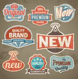 Vintage label set. Vector retro design banner backgrounds Royalty Free Stock Photo