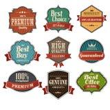 Vintage label sets. A vector illustration of vintage label design elements Royalty Free Stock Images