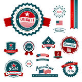Vintage label and tag independence day Stock Image