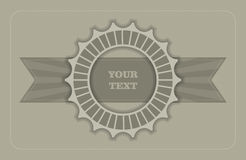 Vintage label template Royalty Free Stock Photo