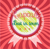 Vintage label with text Cupcake - Best in town Royalty Free Stock Photography