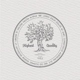 Vintage label with tree Royalty Free Stock Photography