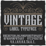 Vintage Label Typeface Poster Royalty Free Stock Images