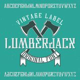 Vintage label typeface Royalty Free Stock Photos