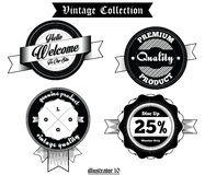 Vintage-Label-Vector-004 Royaltyfri Foto