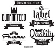 Vector Set Vintage Bagdes Stock Photography