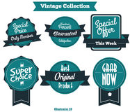 Vintage Label Vector 002. 6 Vintage Label Vector for brand or product Royalty Free Stock Image