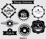 Vintage Label Vector 003. 7 Vintage Label Vector for brand or product Stock Images