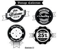 Vector Set Vintage Badges Royalty Free Stock Photo