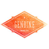 Vintage label with vector watercolor background Royalty Free Stock Images