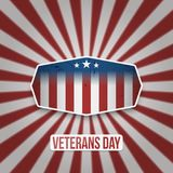 Vintage Label with Veterans Day Text. Vector Illustration Royalty Free Stock Photos