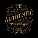 Vintage label western hand drawn antique frame typography vector. Illustration Royalty Free Stock Photography