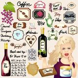 Vintage Labelling Vector Kit - 20+ Labels - for Products Signs Frames Labels & Buttons - Wine Food Coffee Chocolate Vanilla Beauty. Well detailed illustration Royalty Free Stock Photos