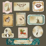 Vintage labels Royalty Free Stock Photography