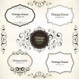 Vintage labels. Grunge vintage label and frames Royalty Free Stock Images