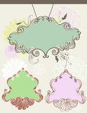 Vintage labels. With floral elements Royalty Free Stock Photo