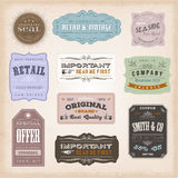 Vintage Labels Ans Signs Stock Photo