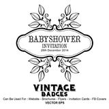 Vintage Labels - Baby Shower Decorations Royalty Free Stock Images