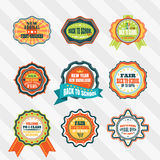 Vintage labels for back to school vector set. Stock Photography