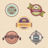 Vintage labels and badges Stock Image