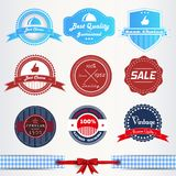 Vintage labels or badges set Royalty Free Stock Photos