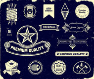 Vintage labels on the black. Collection 3 Royalty Free Stock Photography