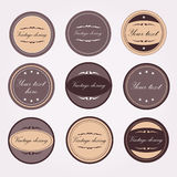 Vintage labels for bottles Royalty Free Stock Image