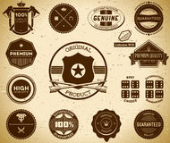 Vintage labels. Collection 10 Royalty Free Stock Image