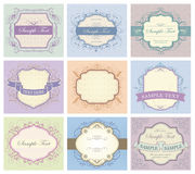 Vintage labels collection Stock Photography