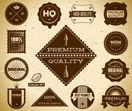 Vintage labels. Collection 5 Royalty Free Stock Image