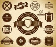 Vintage labels. Collection 7 Stock Images