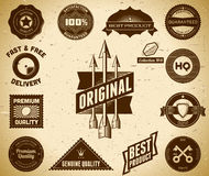 Vintage labels. Collection 8 Royalty Free Stock Image