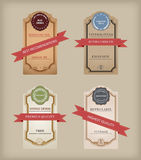 Vintage Labels Collection - 9  web and print design element. Royalty Free Stock Photo