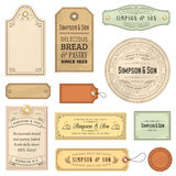 Vintage Labels Royalty Free Stock Photos