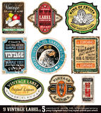 Vintage Labels Collection  -Set 5 Royalty Free Stock Photos