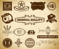 Vintage labels. Collection 17 Royalty Free Stock Photography