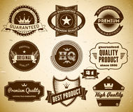 Vintage labels. Collection 21. Set of vintage labels on the cardboard. Collection 21 Royalty Free Stock Photography