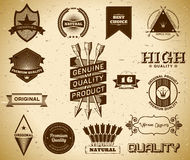 Vintage labels. Collection 16 Royalty Free Stock Photos
