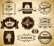 Vintage labels. Collection 22 Stock Photo