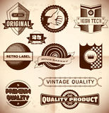 Vintage labels. Collection 23 Royalty Free Stock Photos